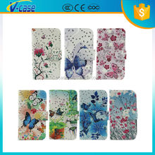 butterfluy flower wallet leather flip case for alcatel pop c2