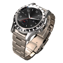 Elegant circular dial houses a 240 x 204-pixel display heart rate sensor remote shutter control of cellphone camera smart watch
