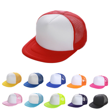Custom kids adult sports blank plain foam snapback trucker mesh cap