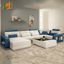 Modern Design Luxury Living Room Furniture Couch Corner Sectional 8 Seater L Shaped Sofa Set