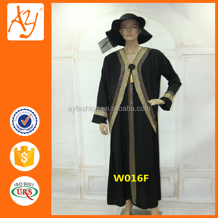 Wholesale factory price new style used abaya dubai dress sharjah maxi length