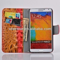 For Samsung Galaxy Note 3 N9005 Crocodile PU Leather Flip Wallet Stand Case Cover