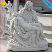 China facotry famous white marble pieta statues religious stone sculptures