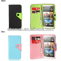 Flip ID Credit Card Wallet Hybrid Leather Case Cover Pouch Stand For HTC One M7