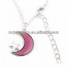 Moon Pendant Link Chain Jewelry Cheap Magic One Direction Mood Necklace Gift
