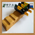 red yellow brown painted self-standing 6-bottle wine rack