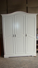 Bedroom Sets French Style White Color Wooden Fancy Wardrobe