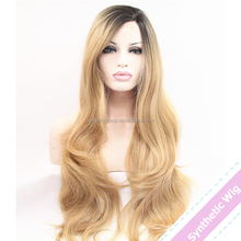 China Hot Beauty Hair Company 100% Density Full Lace Wig Synthetic Hair For Wig Making