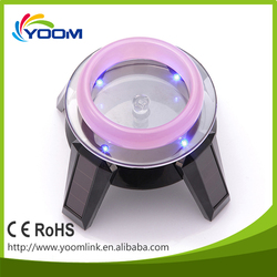 high quality factory price 4 leds solar acrylic rotating phone/sunglass/eyeglass/ watch/jewelry display stand