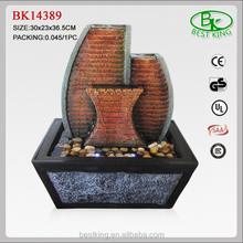 Resin slate indoor fountain for tabletop