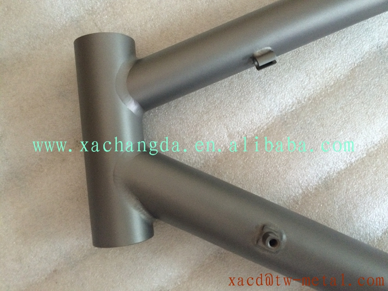 titanium road bike frame racing road bike frame with sand blast finished
