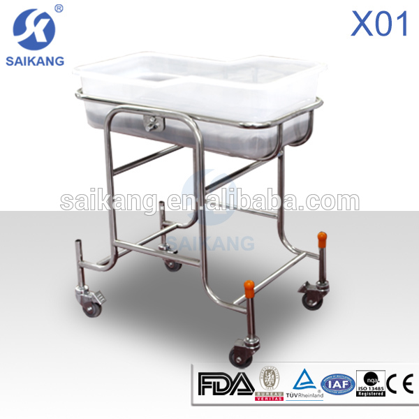 TOP selling!!Stainless baby hospital cot,baby wooden swing bed