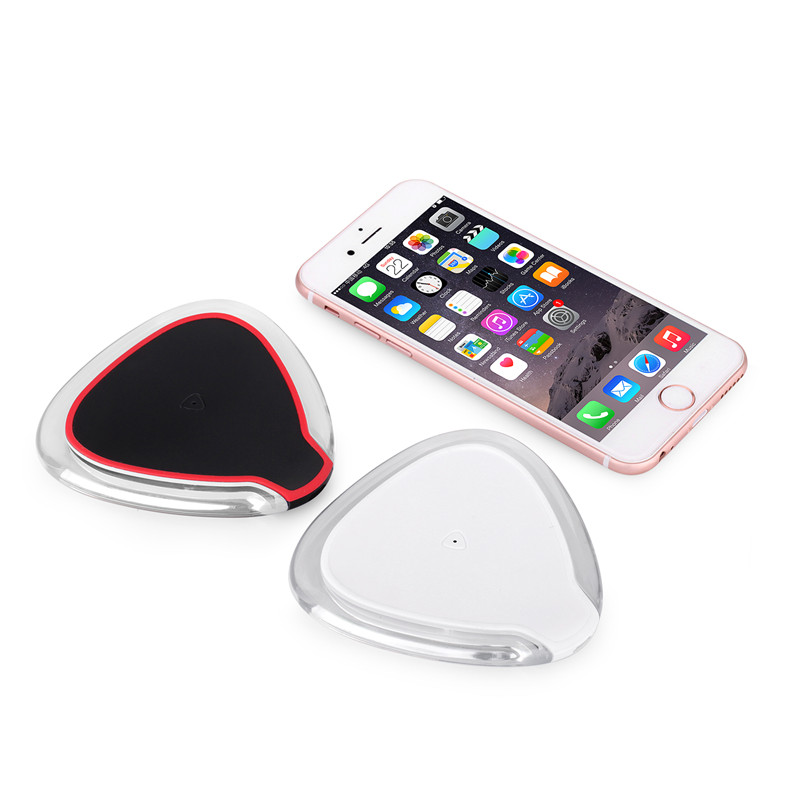 Customized Round Mini Ultra Thin Phone Transparent ABS gift Wireless Charger Charging For All Mobile Phone