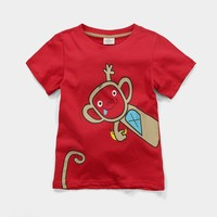 New fashion girls kids wear organic cotton short sleeve T-shirts wholesale