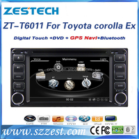 Most professional 6.2 inch auto spare parts for toyota corolla 2005 model car monitor car sat navi headunit with 3G Wifi mp3