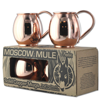 MOSCOW MULE MUG SOLID COPPER WITH HAMMER