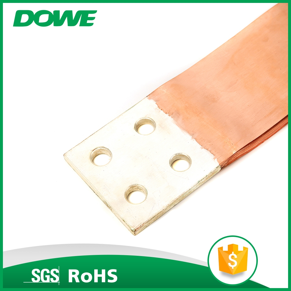Best sales electrical flexible braided wire copper foil connector