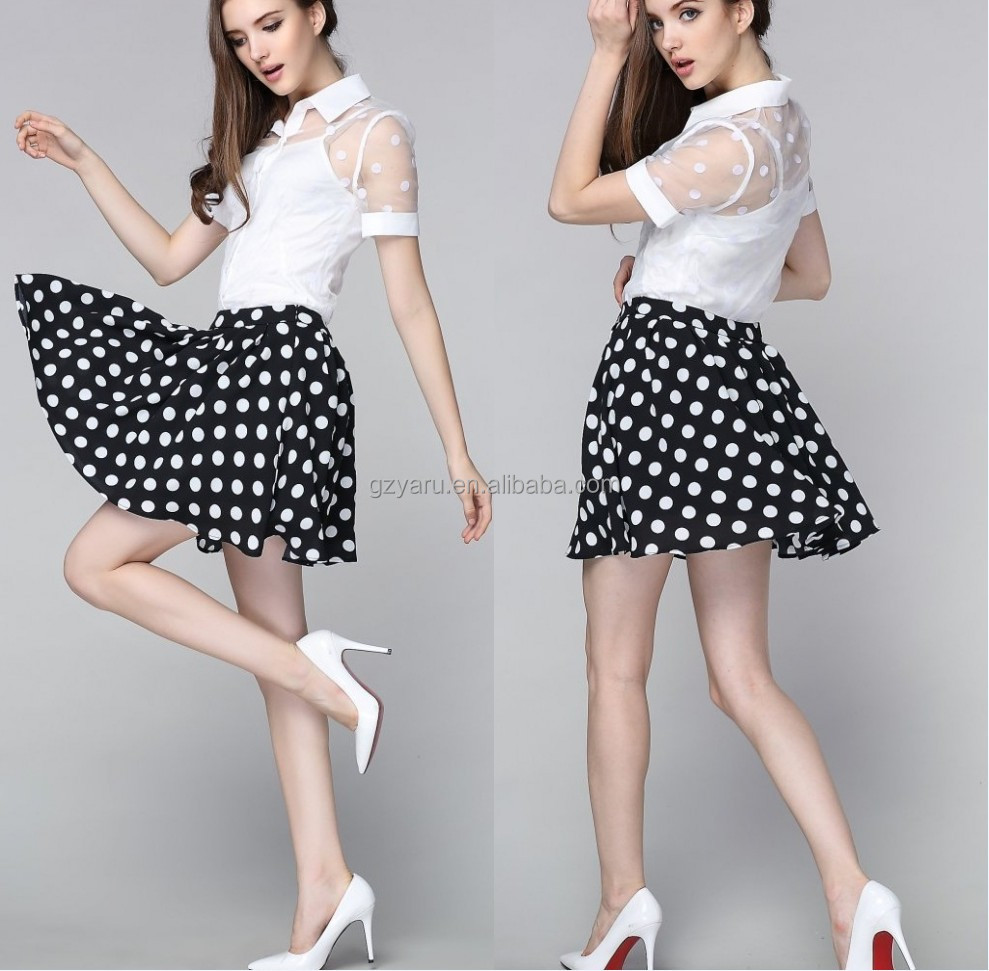 Office Uniform Designs For Women A-Line Skirt in Floral Print