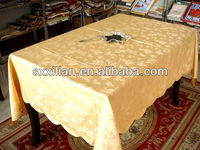 sequined golden-color damask table cloth/napkin/chair cover