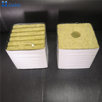 Rock wool grow cubes and slab for Greenhouse hydroponic planting system