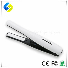 Mini USB hair brush straightener rechargeable cordless hair straightener comb