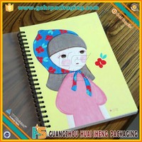 Fashion Design Spiral Drawing Sketch Book with Stickers Make-up Sketch Portfolio
