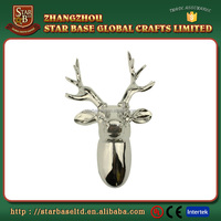 High quality resin wall animal deer bull head sculpture with plating finish