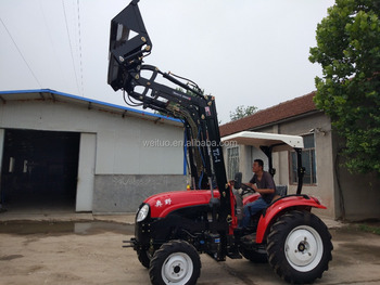 reliable quality 55hp 4wd farm tractor with 4 in one front end loader