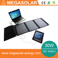 30w foldable laptop solar charger 5v 12v 16v 19v
