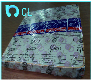 China pvc printed wap rolling mattress film with logo or patterns