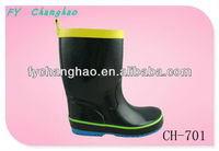 2013 New style black rubber boot for children