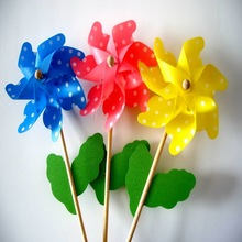 Decorative beautiful flower <strong>windmill</strong> style for kids toy