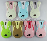 2013 Super Cute Colorful rabbit Case Silicon Case Cover Skin For Samsung Galaxy S4 i9500