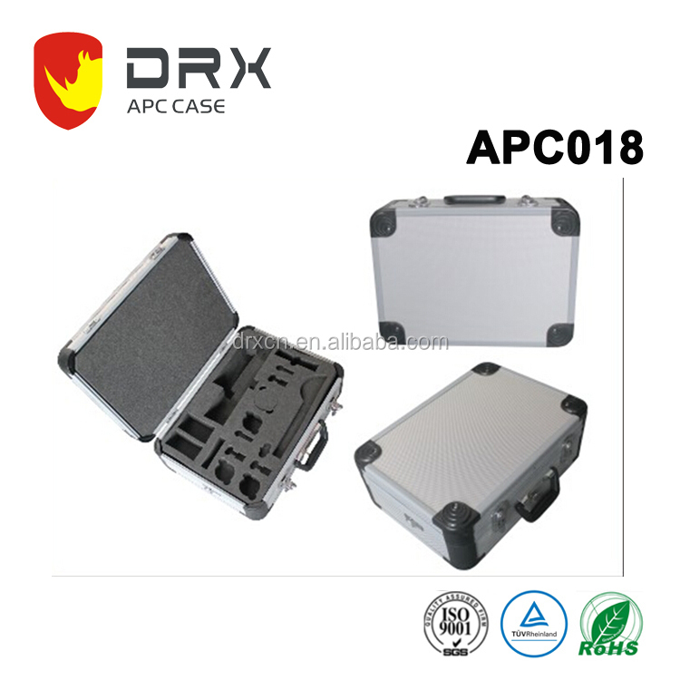 Hard shockproof tool enclosure Aluminum box With foam