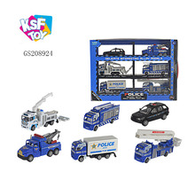 alibaba best selling police truck car alloy toys for children