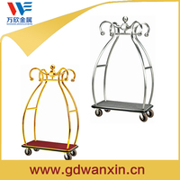 Titanium Luggage Cart, Luggage Trolley , Hotel furniture concierge birdcage hotel luggage cart
