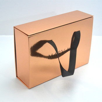 Luxury Magnetic closure paper Box ,foldable paper box With Ribbon handle