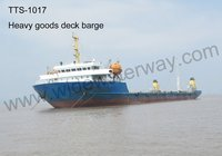 TTS-1017 4700 t Heavy Goods Self propelled deck barge for sale