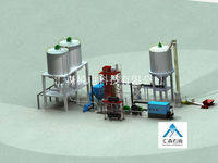 Gypsum plaster powder production line