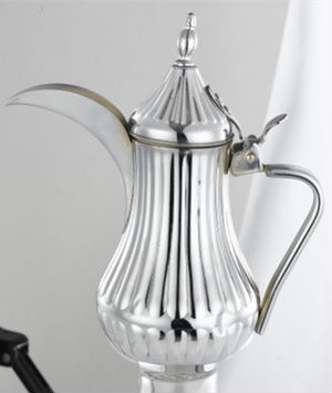 Large dubai golden and silver arabic stainless steel teapot