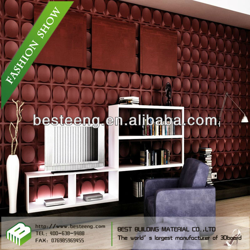 2013 china hot sale home living room background 3D Wall paneling paper