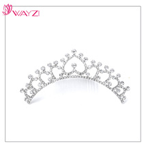 Wayzi brand fashion bridal diamond jewelry cheap tall pageant crown tiara