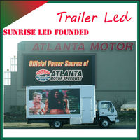 Outdoor Mobile Advertising LED Screen Display Trailer & LED Sign Scooter for Commerical Promotional Activities