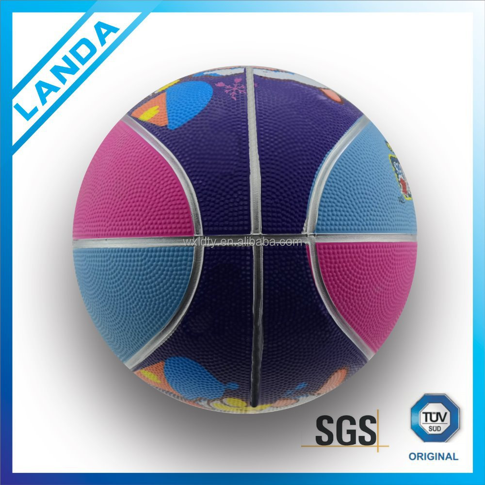 alibaba china rubber basketballs/high air retension rubber bladder promotional