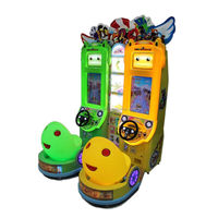 arcade machine double players LED lights racing car kids games machine