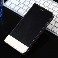 wallet stand case cattle hide leather flip case cover for iphone 4/4s