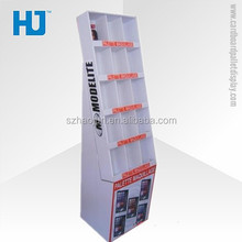 Folding carton exhibition stand for mobile phones, goods shelf display racks for cell phone