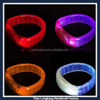 China manufacturer wholesale sound sensor led bangles sound sensor led flashing bangles