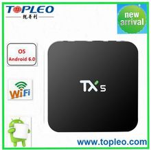 Good supplier amlogic s905x TX5 android 6.0 in set top box