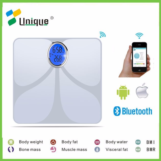 BIA Technology Wireless Human Smart Tempered Glass Mechanical Mini Portable Health Bluetooth Electronic Digital Body Scale